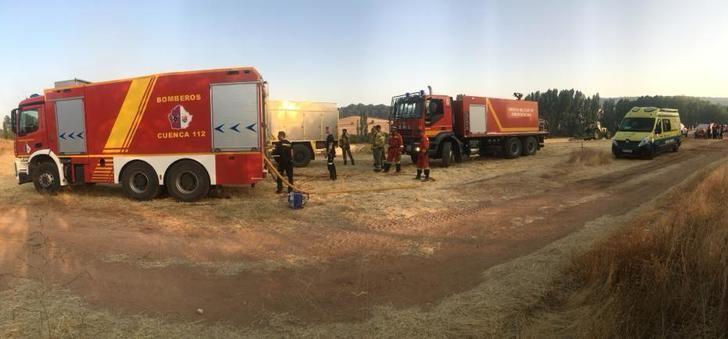 Mejoran las condiciones para combatir incendio forestal de Barchín del Hoyo (Cuenca)