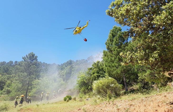 La campaña de incendios forestales de Castilla-La Mancha concluyó con un 6% menos de sucesos de los que el 85% fueron conatos