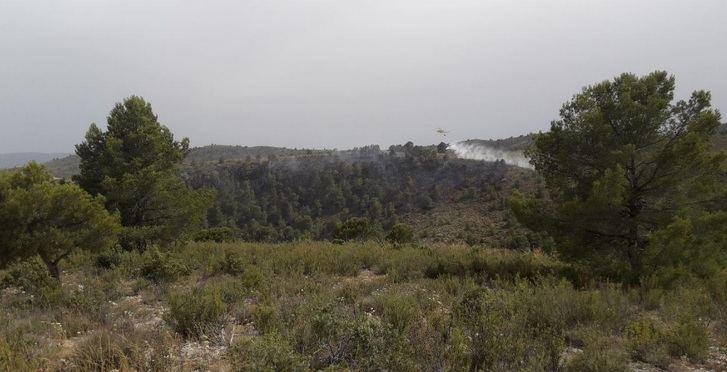 Imagen del incendio de Hellín de este sábado