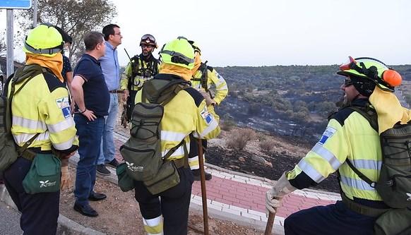 Controlado el incendio forestal de Toledo capital que se inició el viernes por la tarde