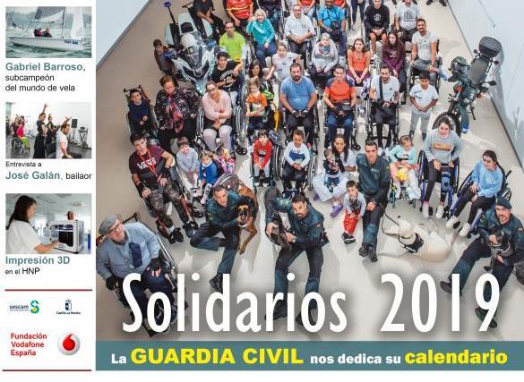 El calendario solidario 2019 que la Guardia Civil dedica al Hospital de Parapléjicos de Toledo, portada de la revista Infomédula
