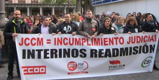 Los interinos de Castilla-La Mancha exigen a Junta que 'dé la cara' y no los enfrente con los opositores