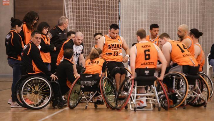 El BSR Amiab Albacete disputa ante el BSR Puertollano el Campeonato Regional de baloncesto en silla de ruedas