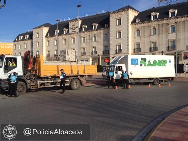 La Policía Local de Albacete participa la próxima semana en la Campaña sobre control de camiones, autobuses y furgonetas