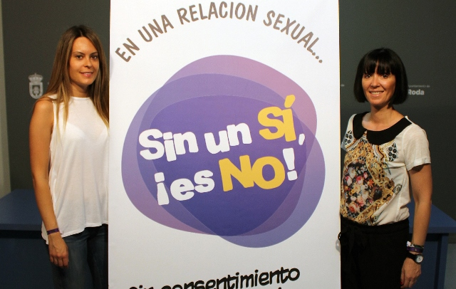 La campaña 'Sin un sí, ¡es NO!', muy presente en la Semana Joven y fiestas patronales de La Roda