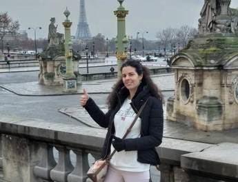 Laura Sanz Nombela, en una imagen del mismo fin de semana. Foto de El País cedida por la familia de la joven.