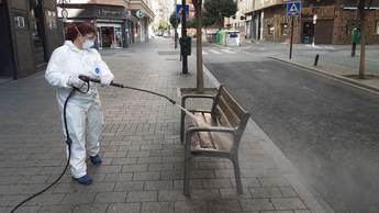 Limpieza en las calles de Albacete.