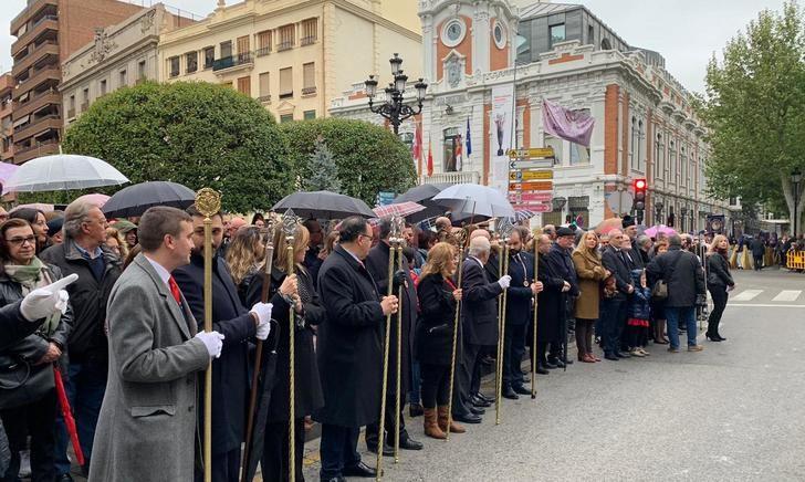 La lluvia 'invitada' de la Procesión del Encuentro en la Semana Santa de Albacete
