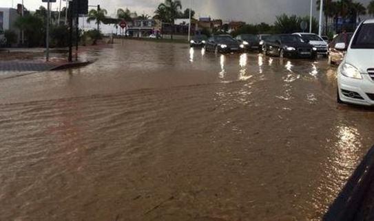 Ocho incidentes en la provincia de Albacete y corte de la A-31 debido a las fuertes lluvias
