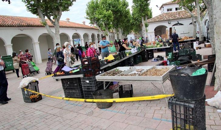 El mercado de 'Los Invasores' de Albacete se traslada esta semana de martes a miércoles