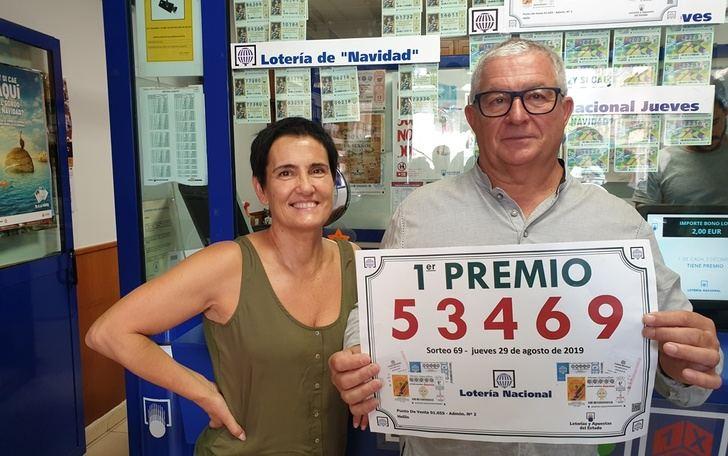 Hellín (Albacete), en la administración 2, vendió íntegramente el primer premio de la Lotería del Jueves