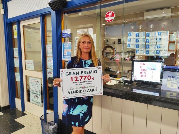 Felicidad en la administración de lotería.