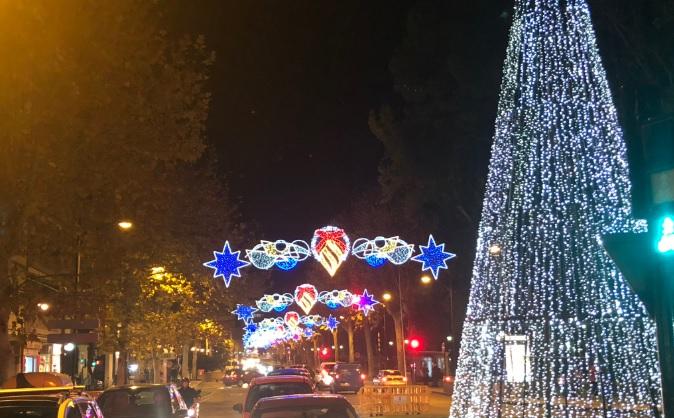 Iluminación de Navidad el pasado año en Albacete.
