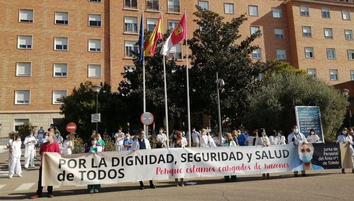 Imagen de una manifestación de empleados de sanidad de C-LM.