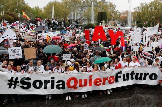 Miles de personas reclaman en Madrid medidas urgentes para la España rural