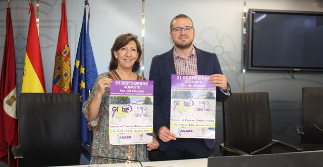 Albacete 'pasa a la acción' con motivo del Día Mundial del Cáncer Ginecológico
