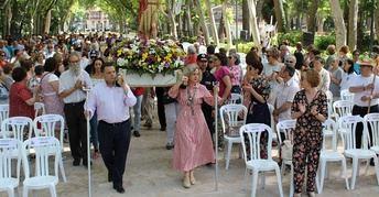 Las Fiestas de San Juan de Albacete viven su romería, tras las 7.000 personas en el desfile de antorchas