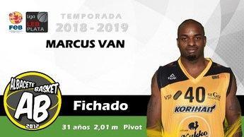 El pívot Marcus Van es nuevo jugador del Arcos Albacete Basket