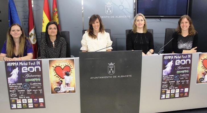 Concierto en favor de AFANION en Albacete de la asociación de mujeres rockeras