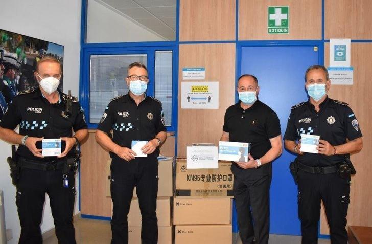 La Policía Local de Albacete recibe 6.000 mascarillas FFP2 para los empleados municipales