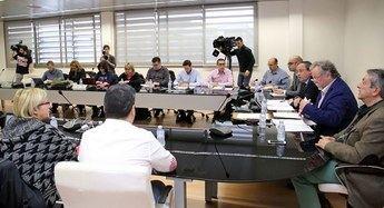 Imagen de archivo de un reunión de la mesa de la función pública en Castilla-La Mancha.