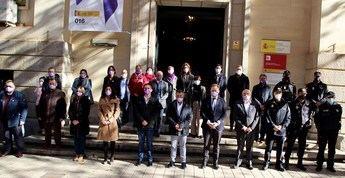 Minuto de silencio en Albacete con motivo del Día Internacional de la Lucha Contra la Violencia hacia las Mujeres