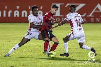 El Albacete acabó ante el Mirandés con una racha de 11 partidos sin ganar (0-2)