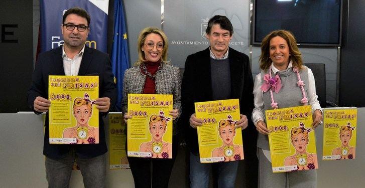 El Ayuntamiento de Albacete y la Federación de Comercio impulsan la campaña ¡Compra sin Prisas!