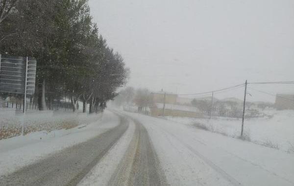 Imagen de archivo de una nevada en Castilla-La Mancha.