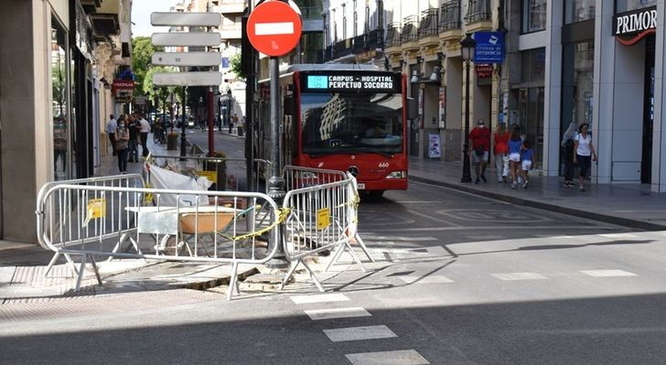 Continúan las obras en el centro de la ciudad y novedades en el tráfico que serán mayores cuando se cierre la calle Ancha desde el cruce con Tinte.