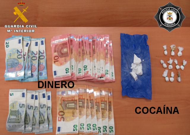 Dos personas, de 29 y 37 años, detenidas en Tobarra con casi 500 dosis de cocaína dispuesta para su venta