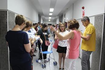 Imagen de las oposiciones a maestros de este sábado.