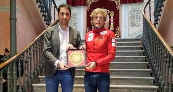 Recepción en la Diputación de Albacete al alpinista Óscar Cardo
