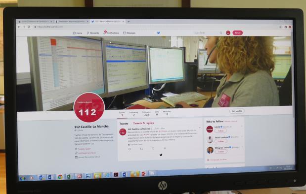El 112 de Castilla-La Mancha estrena twitter para estar más cerca de los ciudadanos