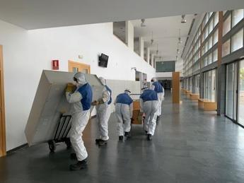 Comienza el acondicionamiento de la Facultad de Medicina de Albacete como recurso sanitario