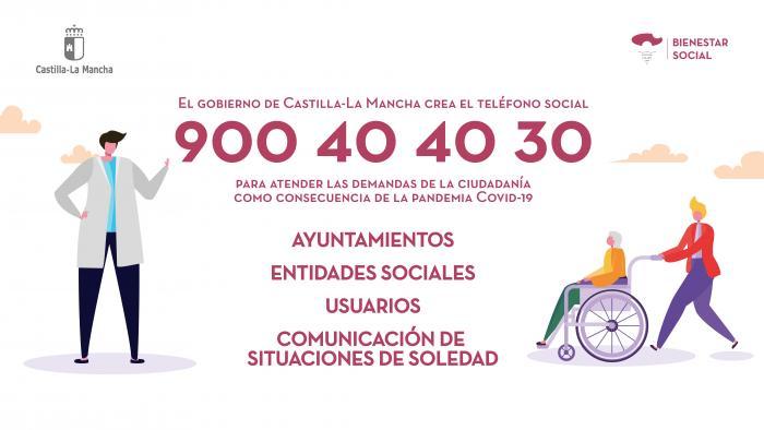 El Gobierno de Castilla-La Mancha habilita el 'Teléfono Social' para atender consultas relacionadas con el coronavirus