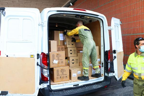 Castilla-La Mancha distribuye 346.000 artículos de protección para los sanitarios y 87.000 test rápidos