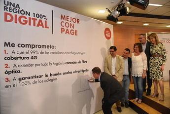 Page se compromete a extender la cobertura 4-G y la fibra óptica por toda Castilla-La Mancha