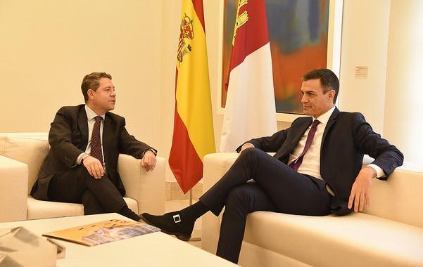"""Page, tras su entrevista con Pedro Sánchez, declara que siguen discutiendo con el Gobierno por trasvase """"pero hay un cambio de actitud"""""""