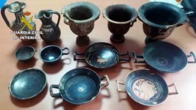 Recuperan más de 3.000 piezas arqueológicas expoliadas, varias de ellas en Albacete