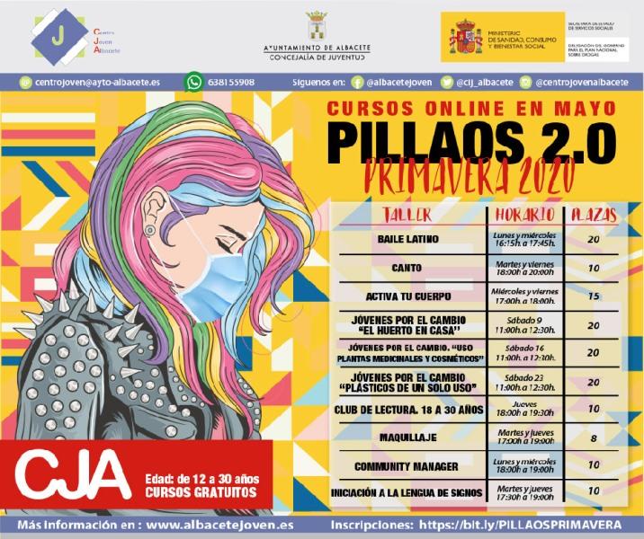 El Ayuntamiento de Albacete ofrece 10 cursos online gratuitos a través del programa Pillaos 2.0 del Centro Joven