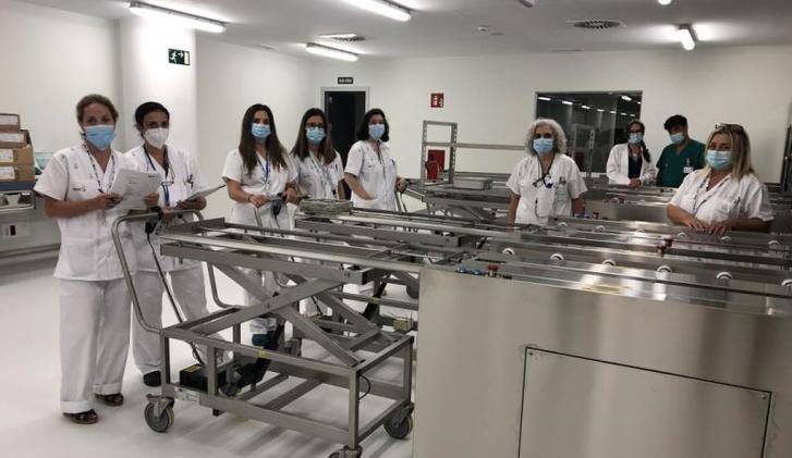 Comienza el Plan de Formación de los profesionales de la nueva central de esterilización del Hospital de Toledo
