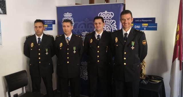 La Policía Nacional de Hellín también celebró con diversos actos su patrón