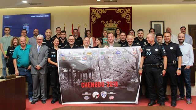 Recepción en el Ayuntamiento de Albacete a la delegación que participará en los Juegos Mundiales de Policías y Bomberos