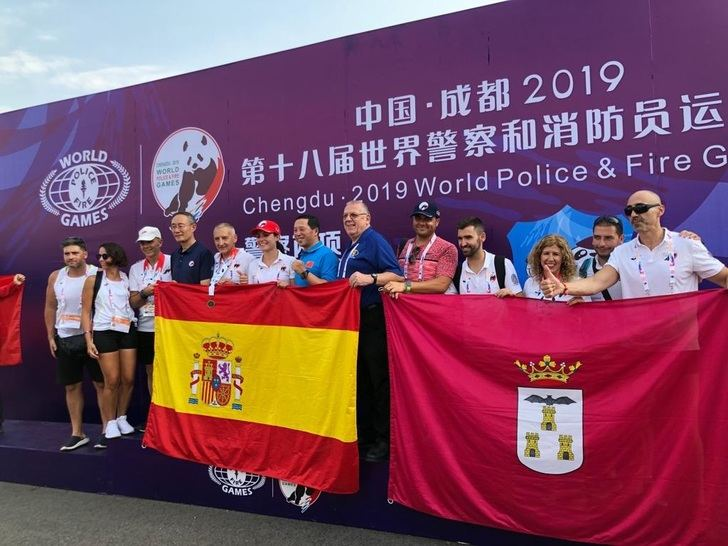 Siete medallas para los policías y bomberos de Albacete en los Juegos Mundiales
