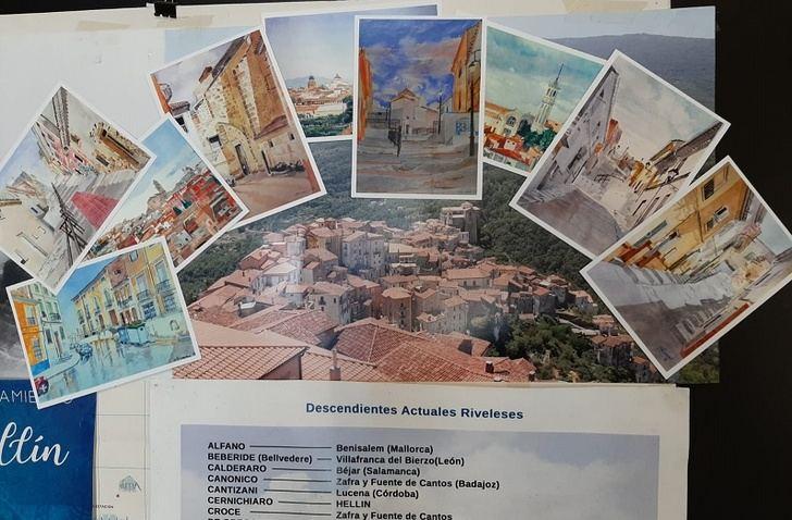 El Comité de Hermanamiento envía a Rivello postales de rincones de Hellín como apoyo mutuo ante el coronavirus