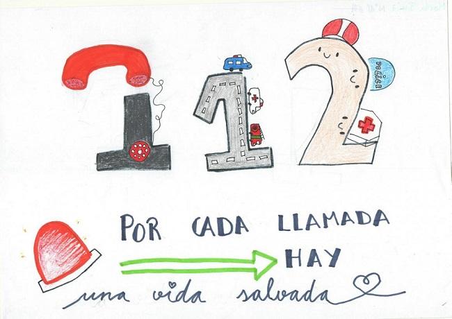 Una alumna del colegio 'Maristas Champagnat' de Guadalajara, ganadora del VII concurso de dibujo escolar del 112