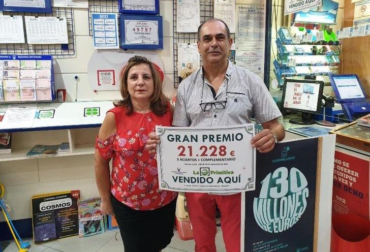Premio de más de 21.000 euros en la Primitiva, para un acertante de segunda categoría en Albacete