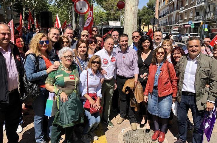 El PSOE de Albacete se ha sumado a la manifestación de los sindicatos con motivo del 1 de mayo