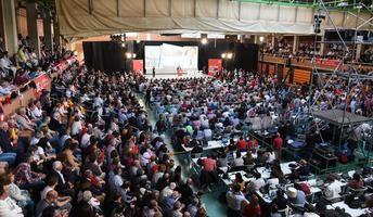 El PSOE se vuelca en un acto electoral en Albacete, con Sánchez, Page, Maestre, Cabañero y Emilio Sáez
